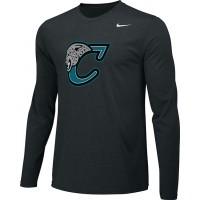 Century Youth Football 13: Adult-Size - Nike Team Legend Long-Sleeve Crew T-Shirt - Black