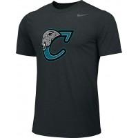 Century Youth Football 10: Adult-Size - Nike Team Legend Short-Sleeve Crew T-Shirt - Black