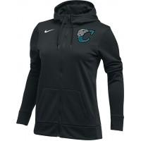 Century Youth Football 20: Nike Women's Therma All-Time Hoodie Full Zip - Black